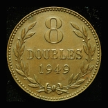Гернси 8 даблов 1949 аUnc, фото №2