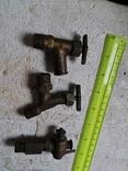 Краны краники металлические латунные СССР 4 штуки, фото №12