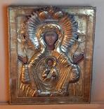 Икона Знамение в серебряном окладе 1793 года, фото №2