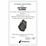 Метеорит Allende, 0,6 грам, із сертифікатом автентичності, фото №3