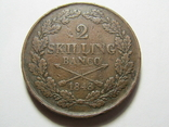2 скиллинга 1843 Швеция, фото №2