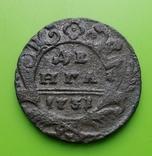 Денга 1731 года (четыре лепестка)., фото №3