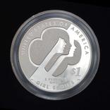 1 Доллар 2013 100 лет движению девочек-скаутов в США (0.900, 26.73г), США Пруф в Коробке, фото №4
