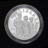 1 Доллар 2014 Закон о гражданских правах 1964 года (0.900, 26.73г), США Пруф в Коробке, фото №3