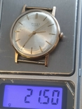 Золото СССР 583 проба 23 камня Часы Полет, фото №3