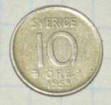 10 оре 1953  Швеция, фото №2