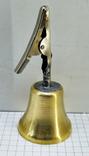 Колокольчик бронзовый с прищепкой, фото №2