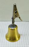 Колокольчик бронзовый с прищепкой, фото №3