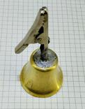 Колокольчик бронзовый с прищепкой, фото №5