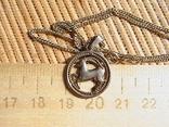 Цепочка с кулончиком. Серебро 925 пробы. Длина 40 см. Вес 3,73 грамм., фото №5