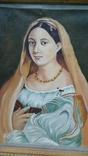 Женский портрет, маслом на холсте, 37 х 28 см, из Германии, фото №2