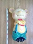 Игрушка резиновая мышь с сыром, цена 4 р.10 коп. СССР, фото №3