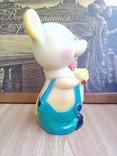 Игрушка резиновая мышь с сыром, цена 4 р.10 коп. СССР, фото №5