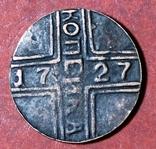 1 копейка 1727 года Москва копия редкой крестовой монеты, фото №2