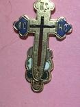 Золотой крестик в эмалях 56пр, фото №5