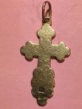Золотой крестик в эмалях 56пр, фото №6