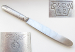 III REICH столовый нож Партийный NSDAP НСДАП 1942 год., фото №2