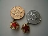 """2 знака """"1-й слет СССР"""" альпинизм эдельвейс, фото №3"""