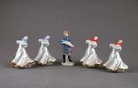 Статуэтка Фигурка Гармонист и плясуньи (5  штук), фото №2