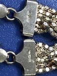 Набор  из цепи с браслетом , серебро 925, фото №6