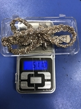 Набор  из цепи с браслетом , серебро 925, фото №10