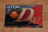 Касcета новая TDK D90, фото №2