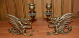 Латунные подсвечники Драконы. Вес 1400 грамм, фото №3