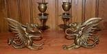 Латунные подсвечники Драконы. Вес 1400 грамм, фото №4