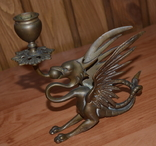 Латунные подсвечники Драконы. Вес 1400 грамм, фото №5