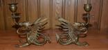 Латунные подсвечники Драконы. Вес 1400 грамм, фото №8