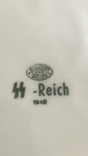 Тарелка SS-Reich. Третий Рейх, свастика., фото №7