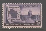 США. 1948. 100 лет шт. Висконсин **., фото №2