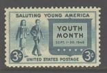 США. 1948. Месяц молодежи **., фото №2