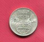 Португалия 10 эскудо 1954 aUNC серебро Парусник, фото №3