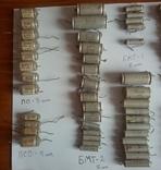 Конденсаторы разные: БМТ, ПО, ПСО, МБМ, БМ, прочее. Всего 103 шт., фото №3