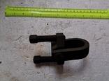 Скоба карабин металлический зажим замок тяга кронштейн прицеп, фото №2