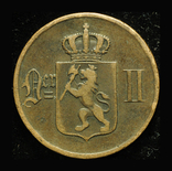 Норвегия 5 эре 1896, фото №3