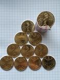 1 ГРИВНЯ 2015 (МАКИ), 10 монет из ролла., фото №2