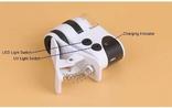 Микроскоп Mpk10-Cl60x с клипсой зажимом и usb зарядкой для смартфона, фото №4