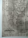 1830 Южная Америка, карта (17х17) СерияАнтик, фото №5