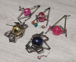 Новогоднее  игрушки стеклярус, фото №4