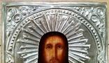 Ікона Ісус Христос, латунь, 18,0х14,6 см, фото №5