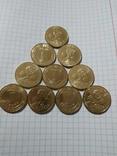 1 ГРИВНЯ ЕВРО 2012- 10 монет из ролла., фото №4