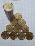 1 ГРИВНЯ ЕВРО 2012- 10 монет из ролла., фото №2