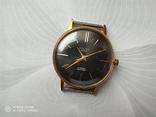 Часы Poljot de luxe 1 МЧЗ. 23 jewels  made in USSR . Полет плоский Au20, фото №2