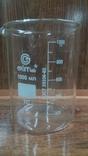 Лабораторный стакан ,градуированый 1000мл(низкий с носиком) термостойкий., фото №2
