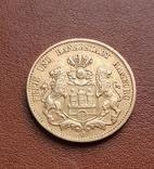 Золото 20 марок 1897 Гамбург Германия, фото №5