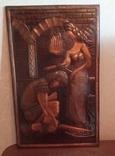Чеканка медная Девушка и рыцарь. СССР, фото №2