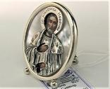 Икона сувенир Святой Александр Невский серебро 925 проба 35,30 грамма, фото №2