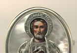 Икона сувенир Святой Александр Невский серебро 925 проба 35,30 грамма, фото №3